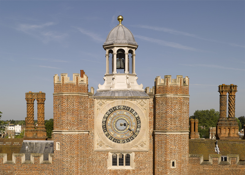Hampton Court Palace,,,,,Nicholas Oursian (active 1532-1590),1540,,The Astronomical Clock on Anne Boleyn's Gateway